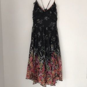 Moon Collection Floral Print Strappy Dress